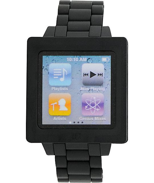 Hex Icon iPod Nano Black Watch Band