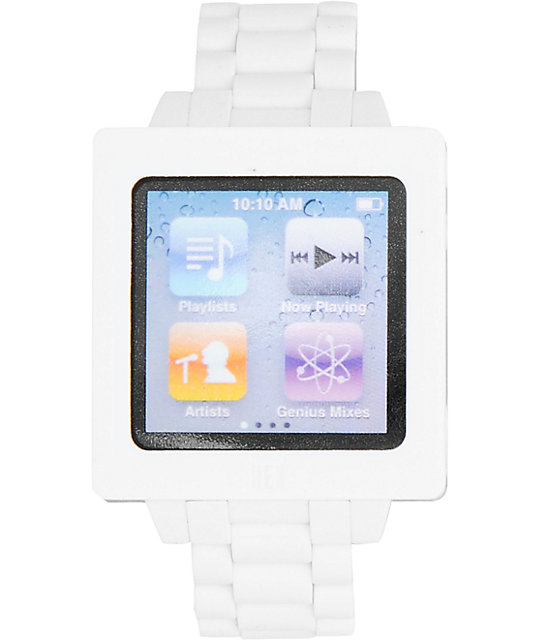Hex Icon iPod Nano White Watch Band