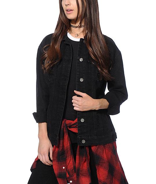 Highway Jeans Lissa Black Denim Jacket