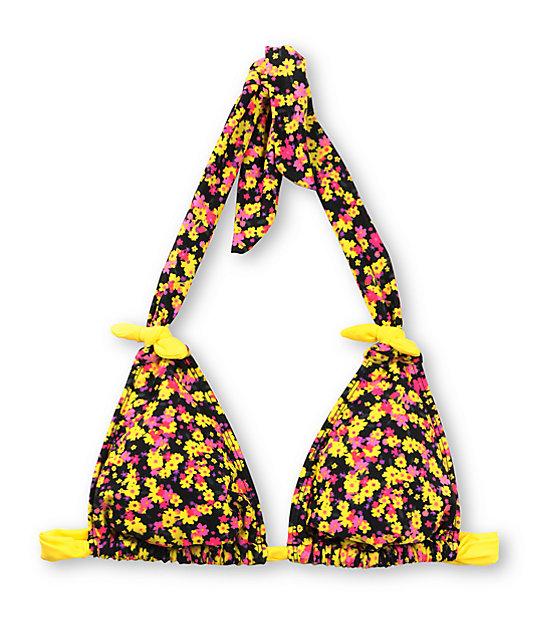 Hobie Ladylike Floral Slide Halter Top