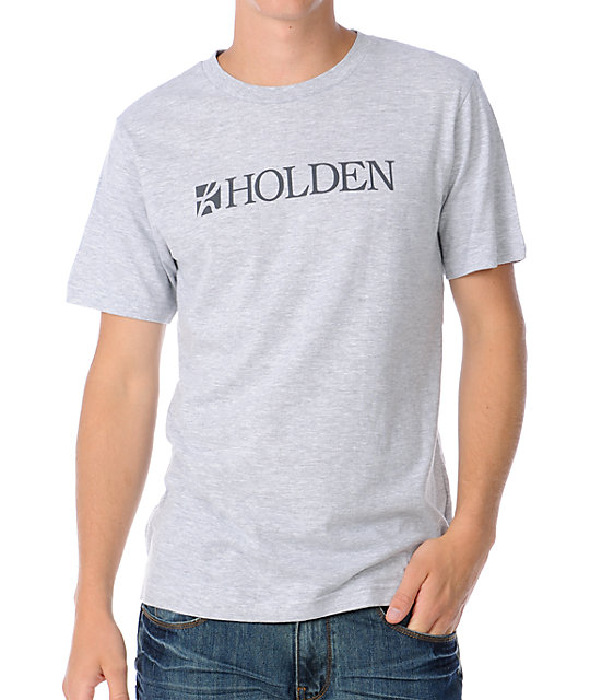 Holden Slug Logo Mens Grey T-Shirt