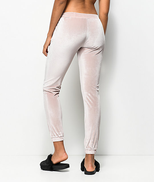 Hologram Rose Velvet Jogger Pants