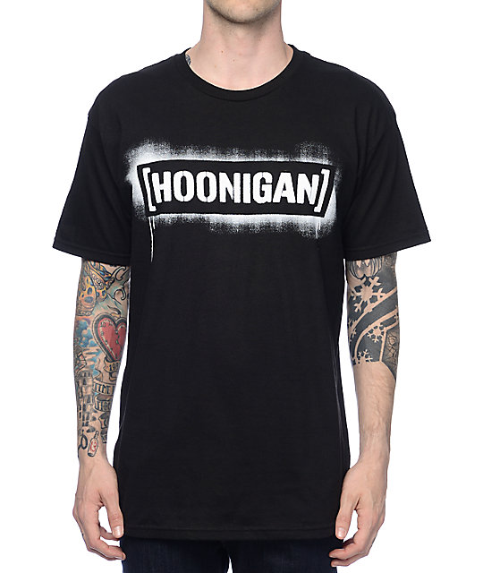 Hoonigan Stencil Black T-Shirt