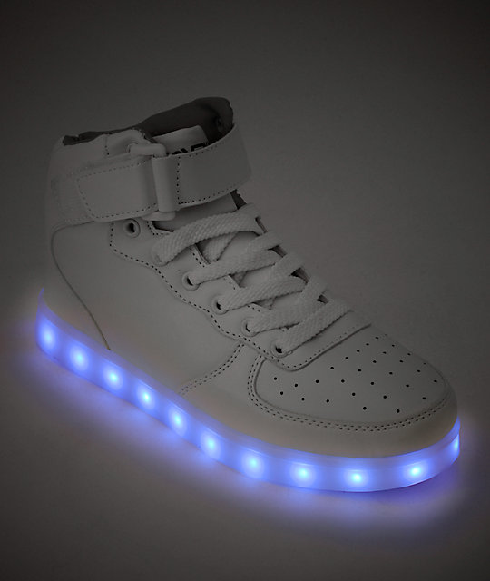 Hoverkicks Super Nova LED White Shoes