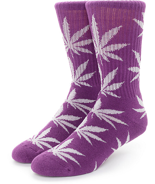 Huf Purple Glow Plantlife Crew Socks