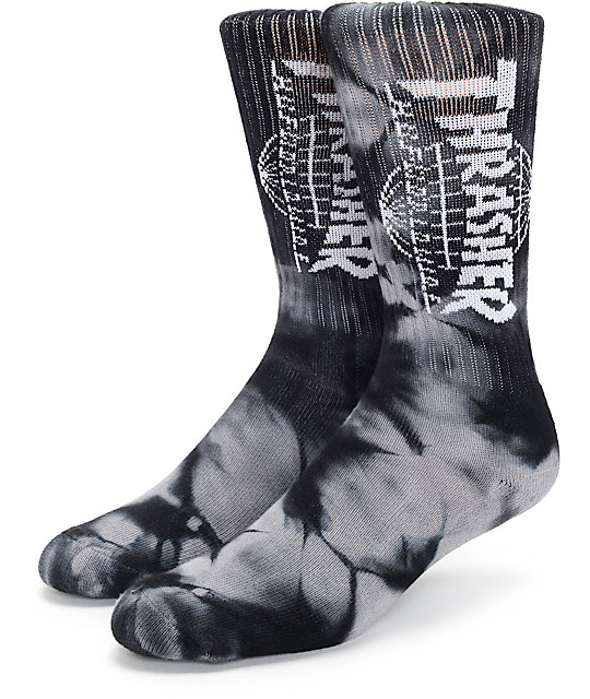 Huf x Thrasher TDS calcetines negros