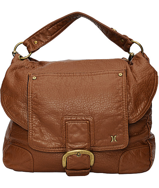Hurley Arlington Brown Hobo Tote Bag