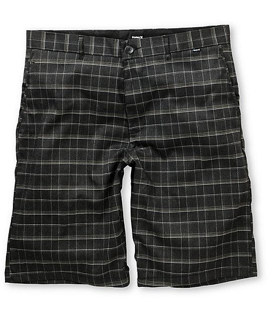 Hurley Baltimore Black Plaid Shorts