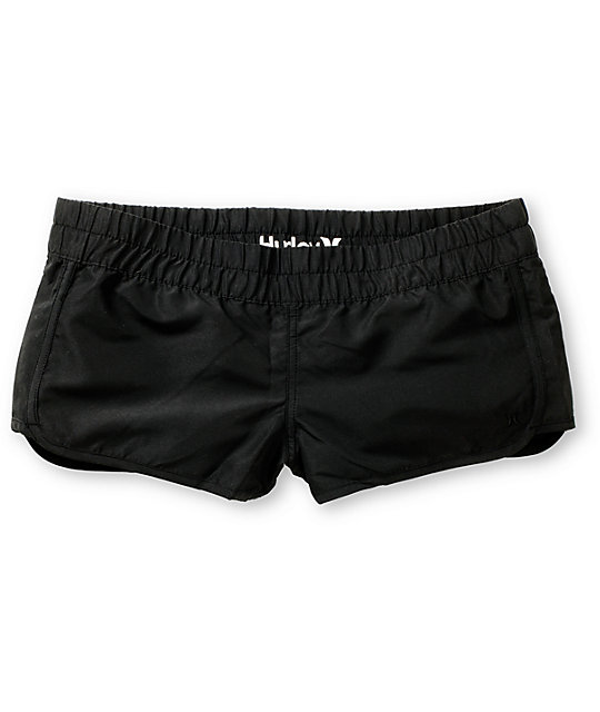 Hurley Black Super Suede Beachrider Board Shorts