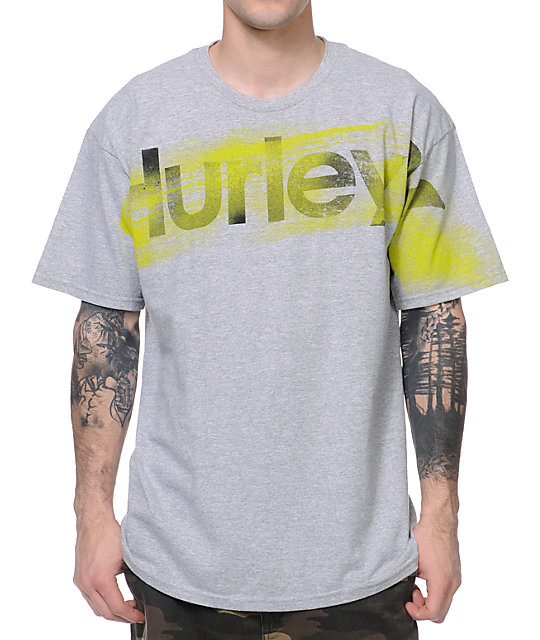 Hurley Blow Out Grey T-Shirt