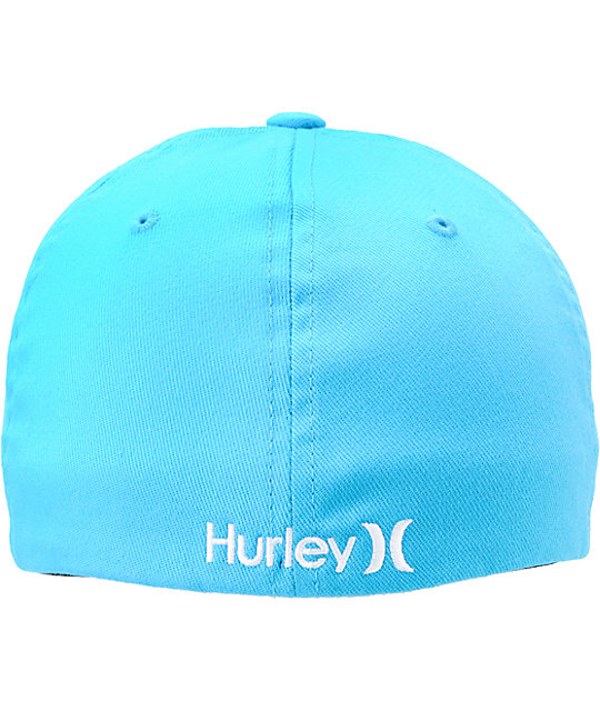 Hurley Boardshort Resist Cyan Mens Flexfit Hat