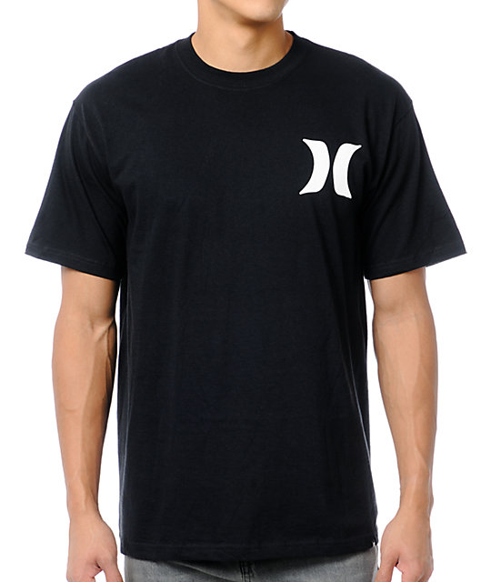 Hurley Brand Front Backer Black T-Shirt