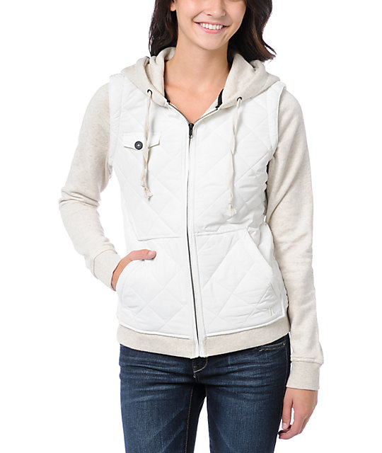 Hurley Bristol Quilted Natural Zip Up Sweatshirt