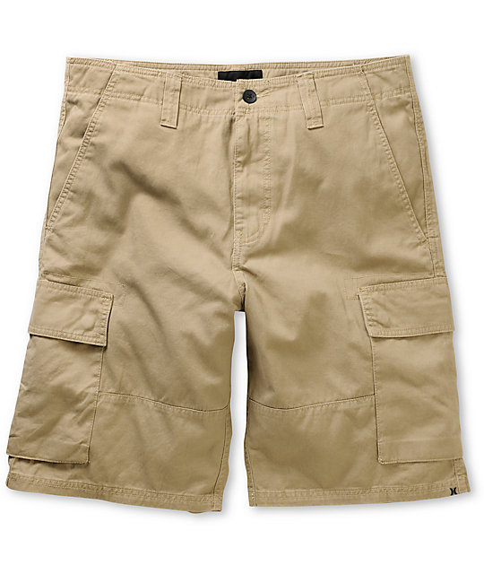 Hurley Commander Khaki Cargo Shorts at Zumiez : PDP