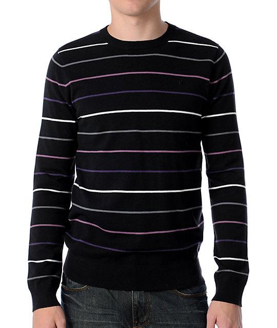 Hurley Downtown Black Crew Neck Sweater