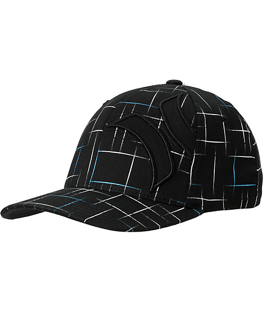Hurley Electro Black Plaid Hat