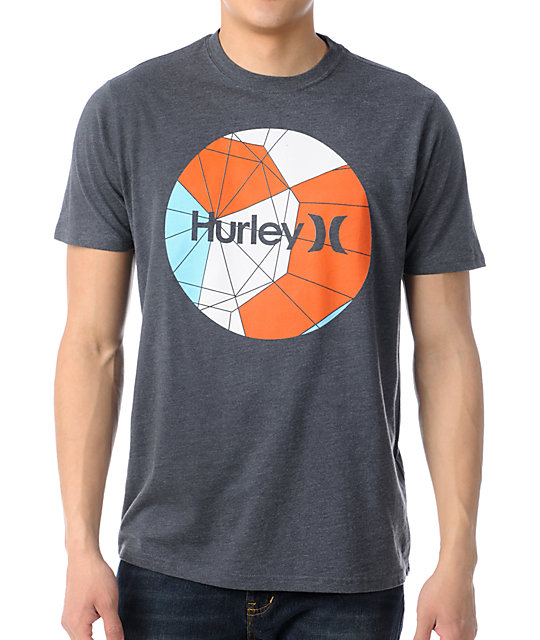 Hurley Hex Krush Dark Heather Grey T-Shirt