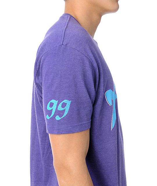 Hurley Jon Mahogany Heather Purple T-Shirt