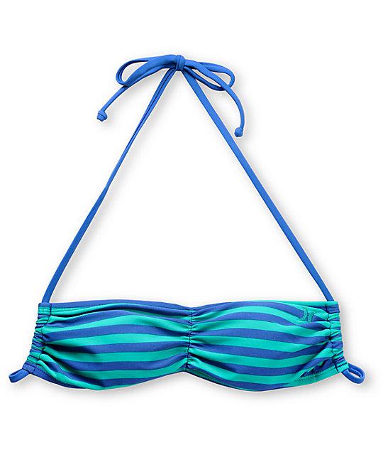 Hurley Line Drive Bandeau Bikini Top