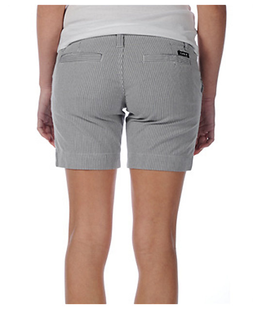 Hurley Lowrider Railroad Grey Stripe Shorts