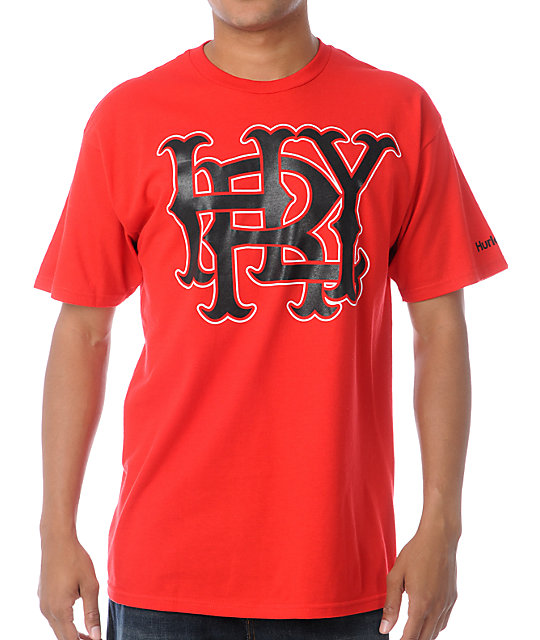 Hurley Major Leagues Red T-Shirt