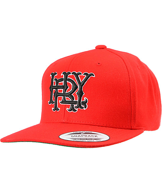 Hurley Major Leagues Snapper Red Snapback Hat