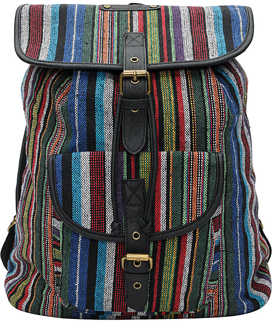 Hurley Market Stripe Rucksack Backpack