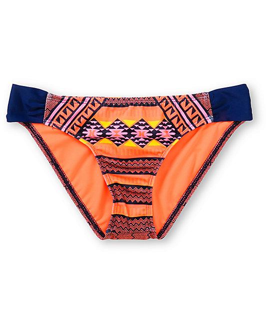 Hurley Mayan Stripe Tab Side Bikini Bottom