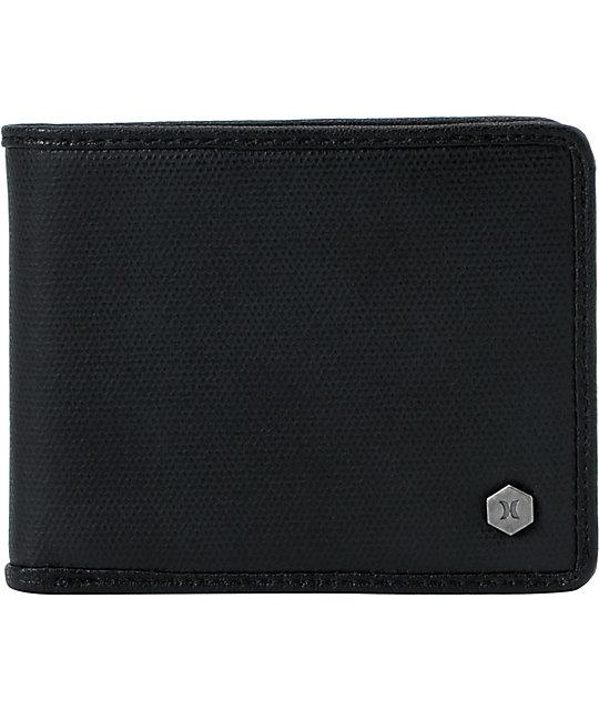 Hurley McKenzie Black Bifold Wallet
