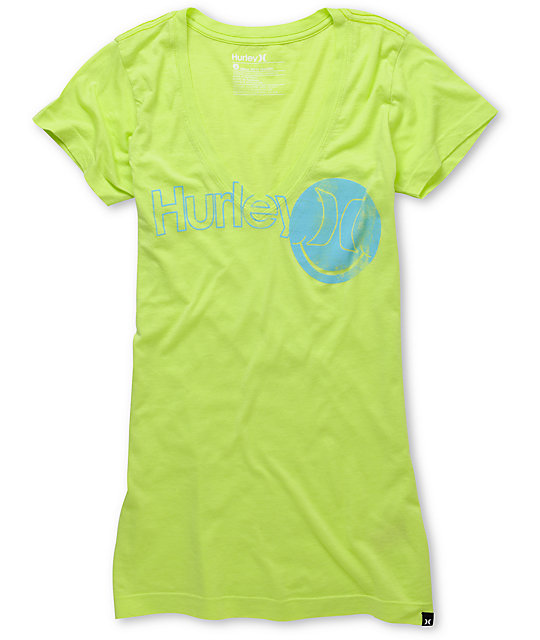 Hurley One & Only Smiles Yellow V-Neck T-Shirt