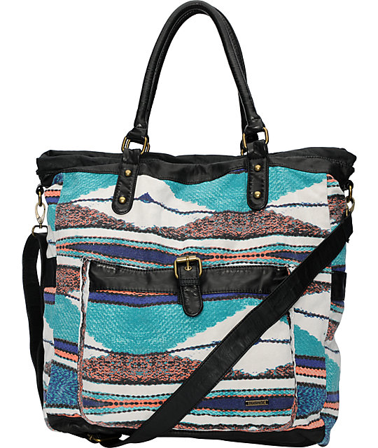 Hurley One & Only Stripe Book Tote Bag