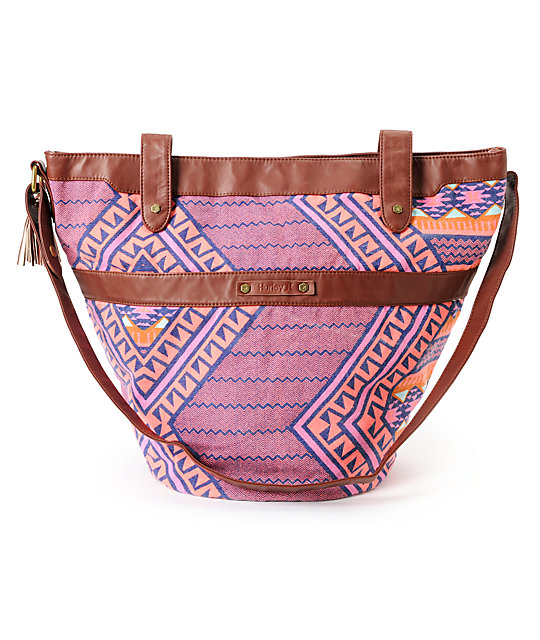 Hurley One & Only Tribal Print Bucket Purse