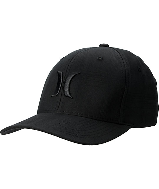 Hurley One And Only Black Print Plaid Hat