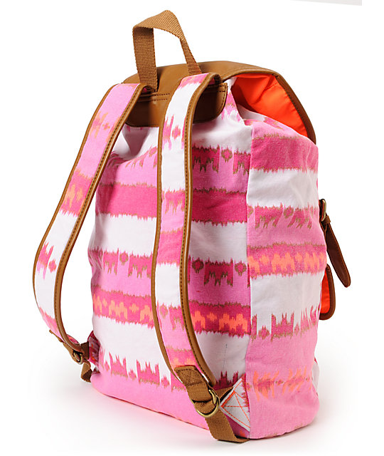 Hurley One And Only Pink & Orange Backpack