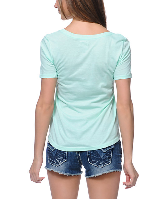 Hurley Owl Mint Scoop Neck T-Shirt