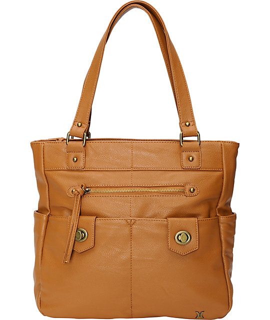 Hurley Prism 2 Camel Brown Tote Bag