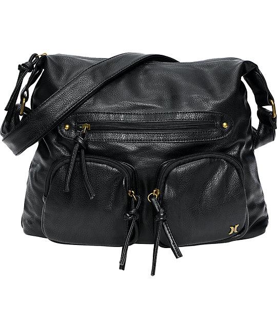 Hurley Prism Black Hobo Bag