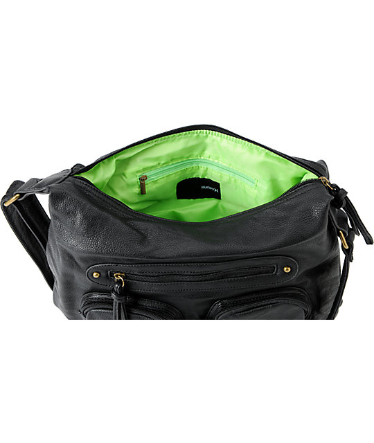 Hurley Prism Black Hobo Bag