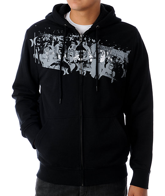 Hurley Punk & Only Black Sherpa Hoodie