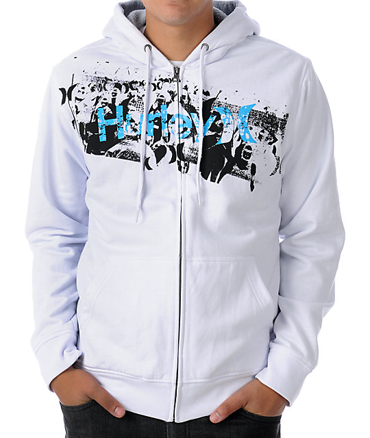 Hurley Punk & Only White Sherpa Hoodie