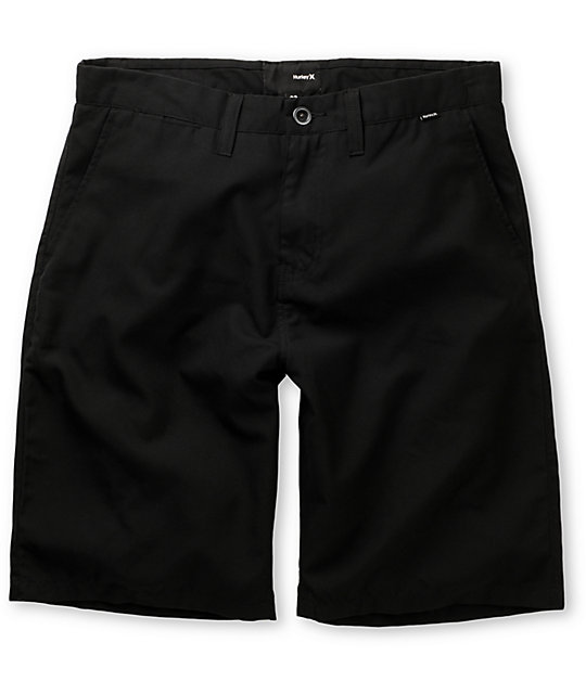 Hurley Reuse Chino Black Shorts