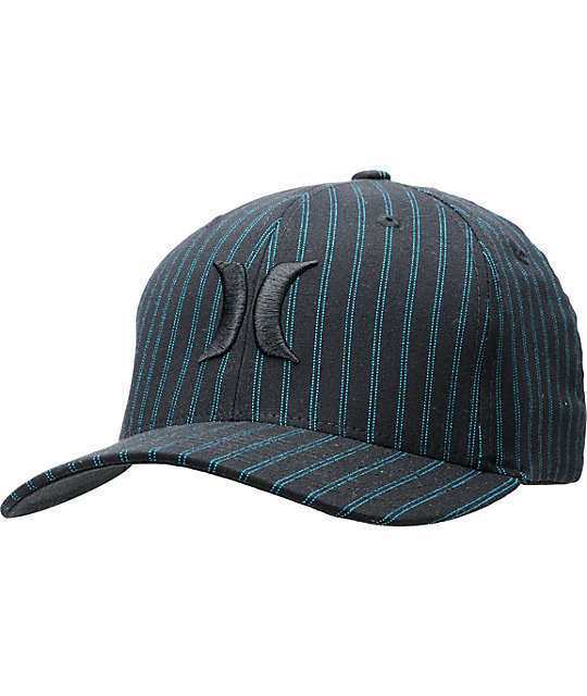 Hurley Rivingston Black & Blue Flexfit Hat