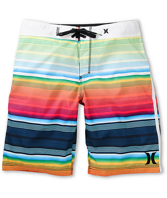 Hurley Sunset Neon Green Board Shorts