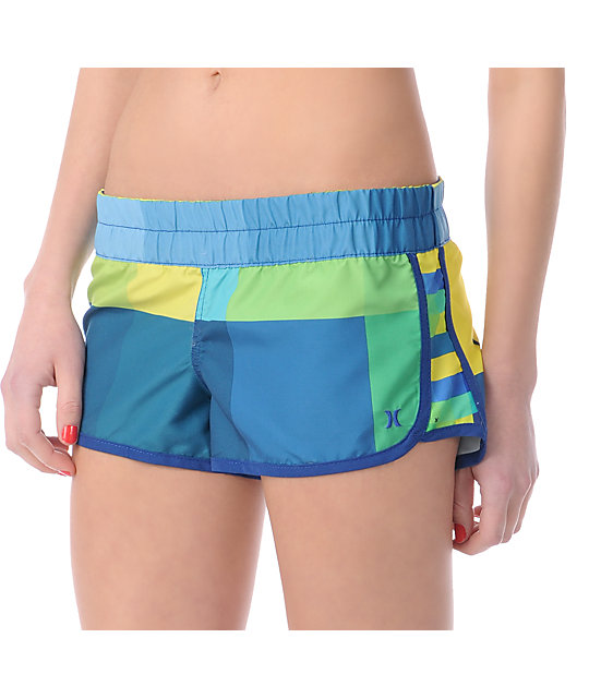 Hurley Super Suede Beachrider Blue Board Shorts