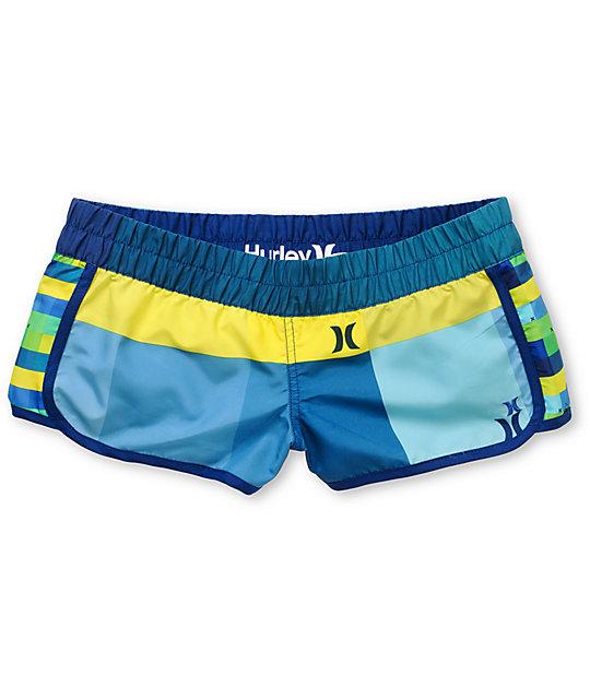 Hurley Super Suede Beachrider Blue Board Shorts