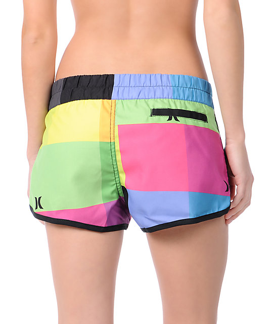 Hurley Super Suede Beachrider Plaid Board Shorts