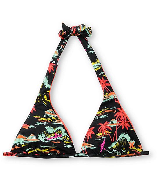 Hurley Swim Flamo Reversible Halter Bikini Top