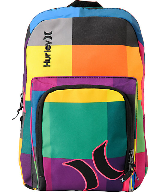 Hurley Sync Colorful Laptop Backpack | Zumiez