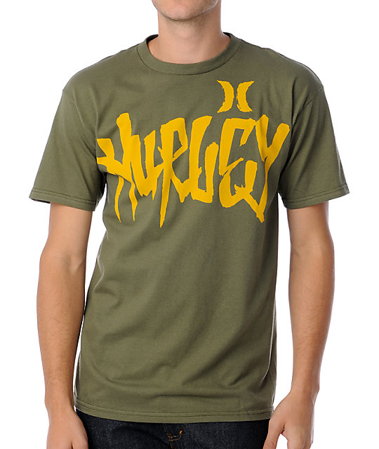 Hurley Trece Green T-Shirt