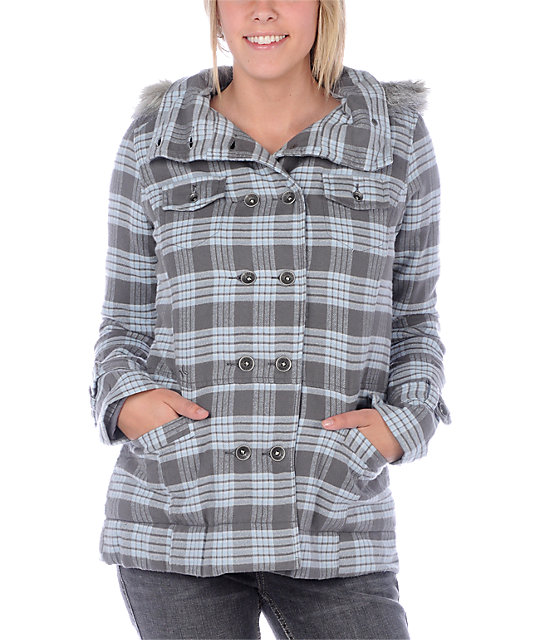 Hurley Winchester Blue Plaid Jacket